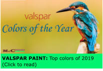 VALSPAR PAINT: Top colors of 2019 (Click to read)